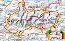 Mapa okolo Tater