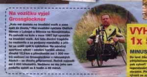 Na vozíčku vyjel Grossglockner