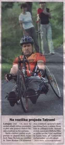 Na vozíčku projede Tatrami