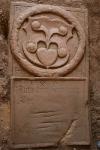 Náhrobek nalezený ve věži lubojatského kostela dne 3. července 2010