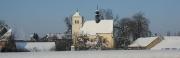 Lubojatský kostel v zimě