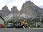 Při výjezdu to vypadalo jako passo di Sella teď vím že musím makat ještě přes kilometr