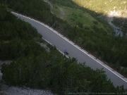 Pohled do úzkého kaňonu nad Bormiem