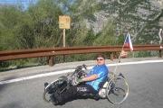 V 31.zatáčce na PASSO DELLO STELVIO - s handbikem na druhý nejvyšší průsmyk v Evropě 27. 8. 2009