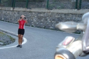 Pavla v 31. tornanti PASSO DELLO STELVIO 27. 8. 2009