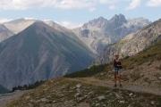 Pavla na cyklostezce vedoucí od jezera Cancano(Lago di Cancano) do Livigna přes passo Alpisella